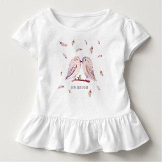 Liebe | Kleinkind-Rüsche-T-Stück Kleinkind T-shirt
