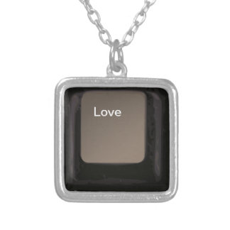 Liebe-Knopf/Schlüssel Halskette Mit Quadratischem Anhänger