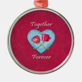 Liebe-Konzept-Entwurf Silbernes Ornament
