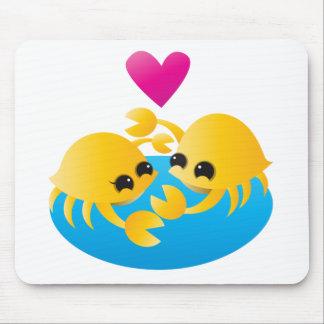 Liebe-Krabben Mousepads