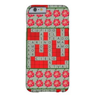 Liebe-Kreuzworträtsel auf spanisch auf iPhone 6/6s Barely There iPhone 6 Hülle