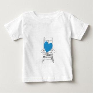 Liebe-(kundengerechtes) Herz-Schwingstuhl Baby T-shirt