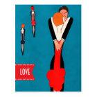Liebe. Kunst-Deko-Entwurfs-Postkarten des Postkarte