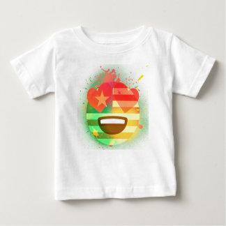 Liebe-Lächeln-Amerika-Flagge Emoji Baby T-shirt