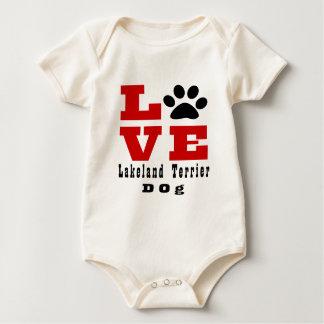 Liebe-Lakeland-Terrier-Hund Designes Baby Strampler