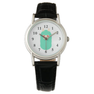 Liebe-Lama Emoji Armbanduhr
