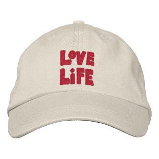 Liebe-Leben-Baseballmütze Bestickte Baseballkappe