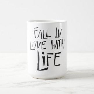 Liebe-Leben-Glück-Haltungs-Erfolgs-Zitat Kaffeetasse