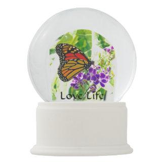 Liebe-Leben-Schmetterling Schneekugel
