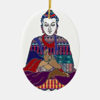 LIEBE-LICHT Frieden Buddhismus BUDDHAS Mahatma Keramik Ornament