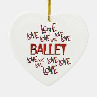 Liebe-Liebe-Ballett Keramik Herz-Ornament