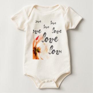 Liebe-Liebe-Liebe Baby Strampler