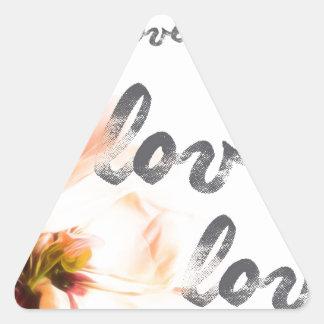 Liebe-Liebe-Liebe Dreieckiger Aufkleber