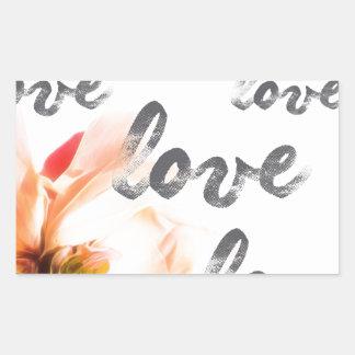 Liebe-Liebe-Liebe Rechteckiger Aufkleber
