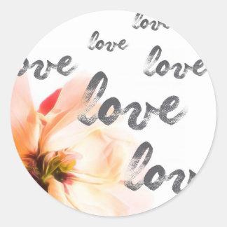 Liebe-Liebe-Liebe Runder Aufkleber