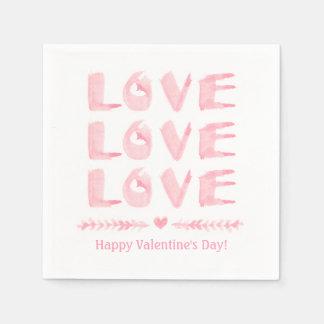 Liebe-Liebe-Liebe-Valentinstag-Party-Versorgungen Papierserviette
