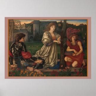 """Liebe-Lied"" Edward Burne-Jones Poster"