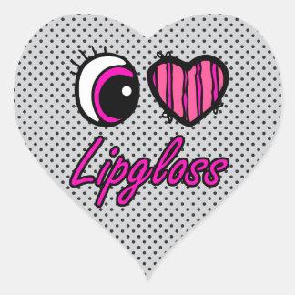 Liebe Lipgloss des Emo Augen-Herz-I Herz-Aufkleber