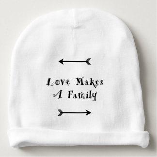 Liebe macht eine Familie - die Parenting Pflege Babymütze