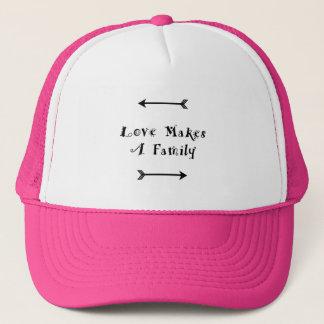 Liebe macht eine Familie - die Parenting Pflege Truckerkappe