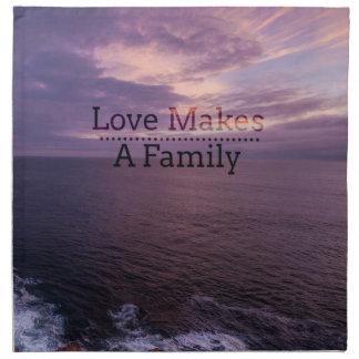 Liebe macht eine Familien-Adoption - Serviette