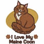 Liebe-Maine-Waschbär Besticktes Hoodie