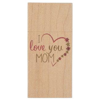 Liebe-Mamma-Mutter-Tagesherz Holz USB Stick