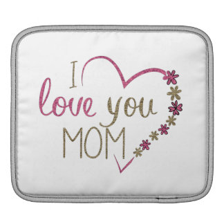 Liebe-Mamma-Mutter-Tagesherz iPad Sleeve