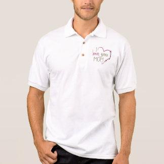 Liebe-Mamma-Mutter-Tagesherz Polo Shirt