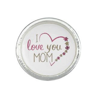 Liebe-Mamma-Mutter-Tagesherz Ring