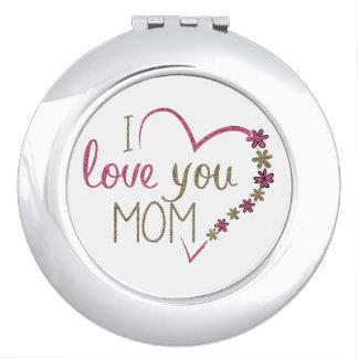 Liebe-Mamma-Mutter-Tagesherz Schminkspiegel