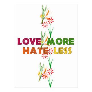 Liebe mehr Hass weniger Postkarte