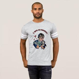 Liebe mein Affe-Fußball-T-Stück T-Shirt