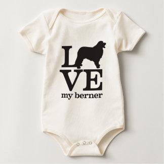 Liebe mein Bernese Gebirgshund Baby Strampler