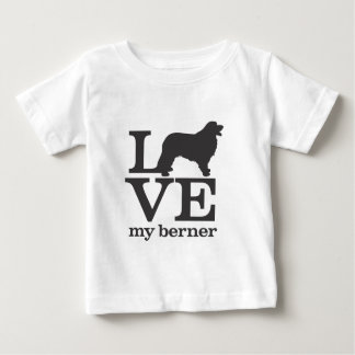 Liebe mein Bernese Gebirgshund Baby T-shirt
