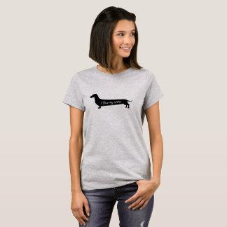 Liebe mein Dackelhundefrauen-T - Shirt