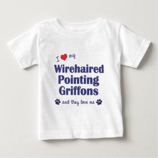 Liebe mein Drahthaar, das Griffons (multi, zeigt Baby T-shirt