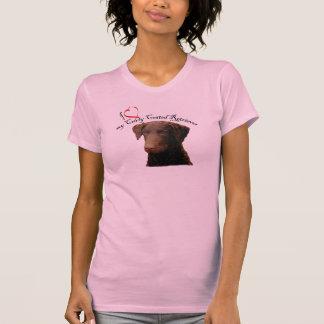 Liebe mein gelockter überzogener Retriever-T - Tshirt