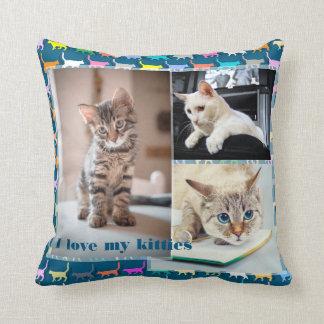 Liebe mein Kätzchen fertigen die 3 Kissen