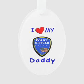 Liebe mein Polizei-Vati Ornament
