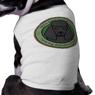 Liebe mein Pudel Ärmelfreies Hunde-Shirt