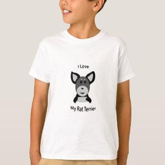 Liebe mein Ratten-Terrier-Socken-Affe-Gesicht T-Shirt