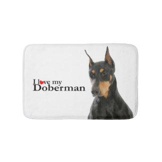 Liebe meine Dobermann-Bad-Matte Badematte