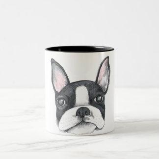 Liebe meine französische Terrier-Kaffee-Tasse Zweifarbige Tasse