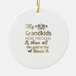 Liebe meine Grandkidentwürfe Keramik Ornament