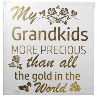 Liebe meine Grandkidentwürfe Serviette