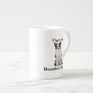 Liebe meine Grenzcollie-Knochen-China-Tasse Porzellantasse