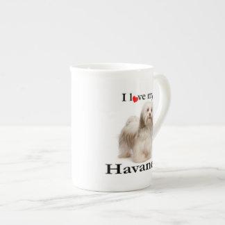 Liebe meine Havanese Knochen-China-Tasse Porzellantasse