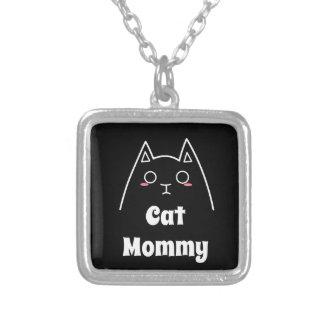 Liebe meine Katzen-Mama Versilberte Kette