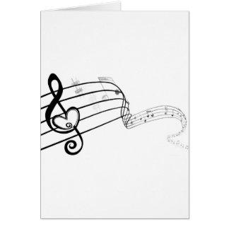 Liebe meine Musik Grußkarte